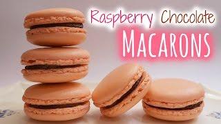 Raspberry Chocolate Macarons│紅莓朱古力馬卡龍 - Peachy Bunny Bakes