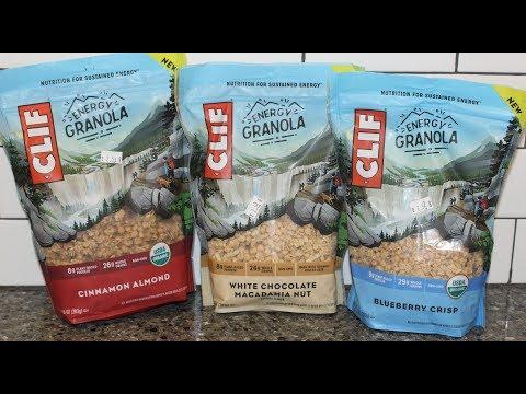 Clif Energy Granola: Cinnamon Almond, White Chocolate Macadamia Nut & Blueberry Crisp Review