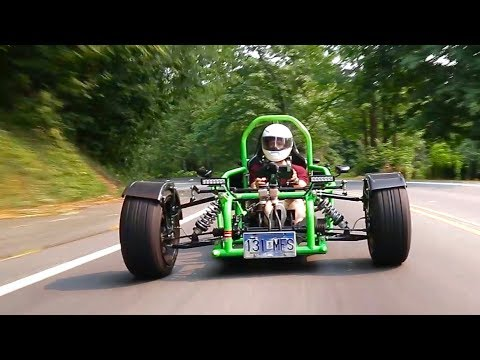 Thumbnail: How is this Ninja 900R-powered custom trike even legal?!