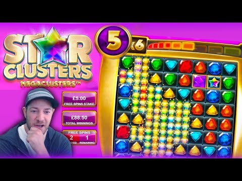 STAR CLUSTERS MEGACLUSTERS REVIEW!! The New Big Time Gaming Slot!