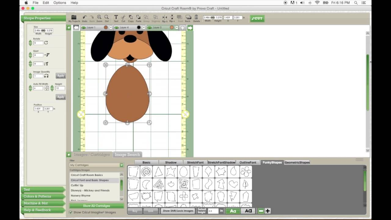 Cricut craft room tutorial make a dog without a cartridge for Cricut craft room download