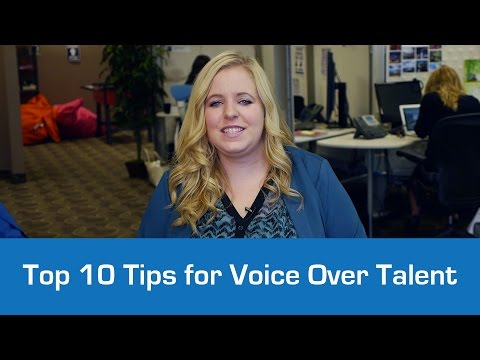 Top 10 Tips for Voice Over Talent