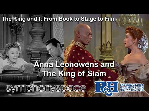 Anna Leonowens and the King of Siam montage