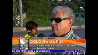 mvil en vivo derrumbe en costanera bernardo monis canal 10