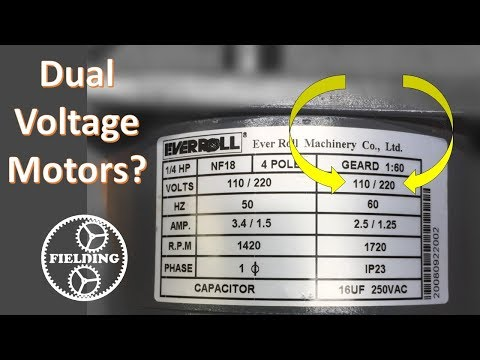 Dual Voltage Motors, How They Work, And Wiring Them Without The Wire Labels. #059