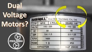 Dual Voltage Motors, How They Work, And Wiring Them Without The Wire  Labels. #059 - YouTubeYouTube
