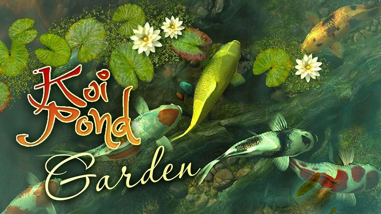 Koi pond garden 3d live wallpaper and screensaver youtube for Koi pond screensaver