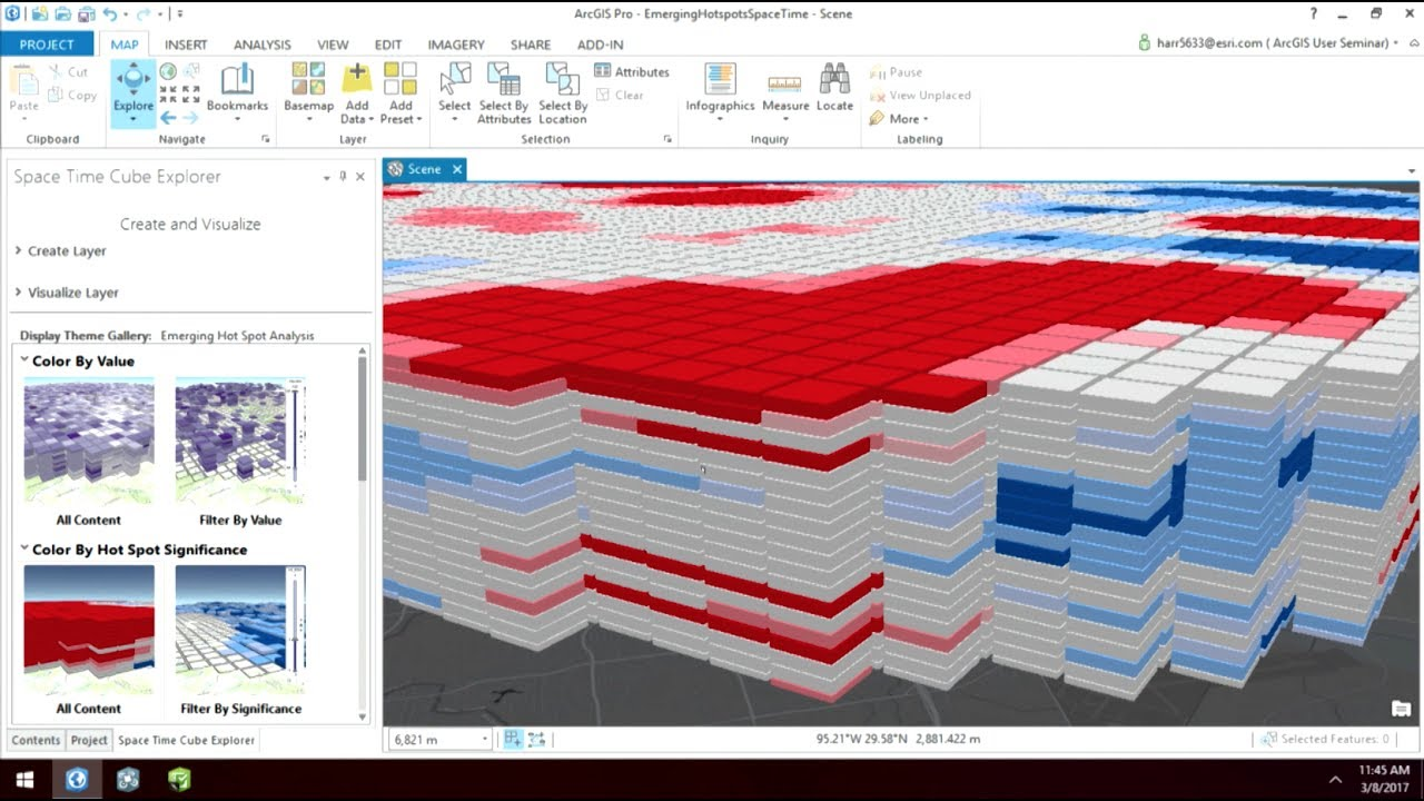 ArcGIS User Seminar – Time-Enabled 3D Spatial Analysis using a Space Time  Cube in ArcGIS Pro (Elec)