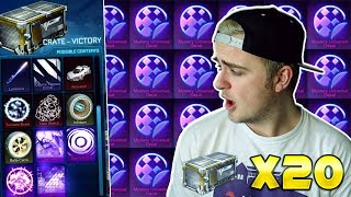 *OMG* WHITE WEREWOLF CAR & MORE! | INSANE NEW 20 VICTORY CRATE OPENING IN ROCKET LEAGUE + TRADE UPS