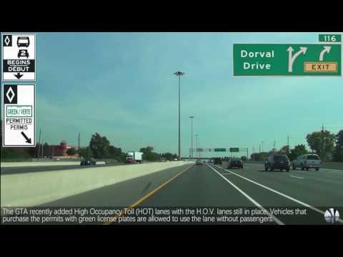 Greater Toronto Area, Ontario - QEW - Highway 403 EB