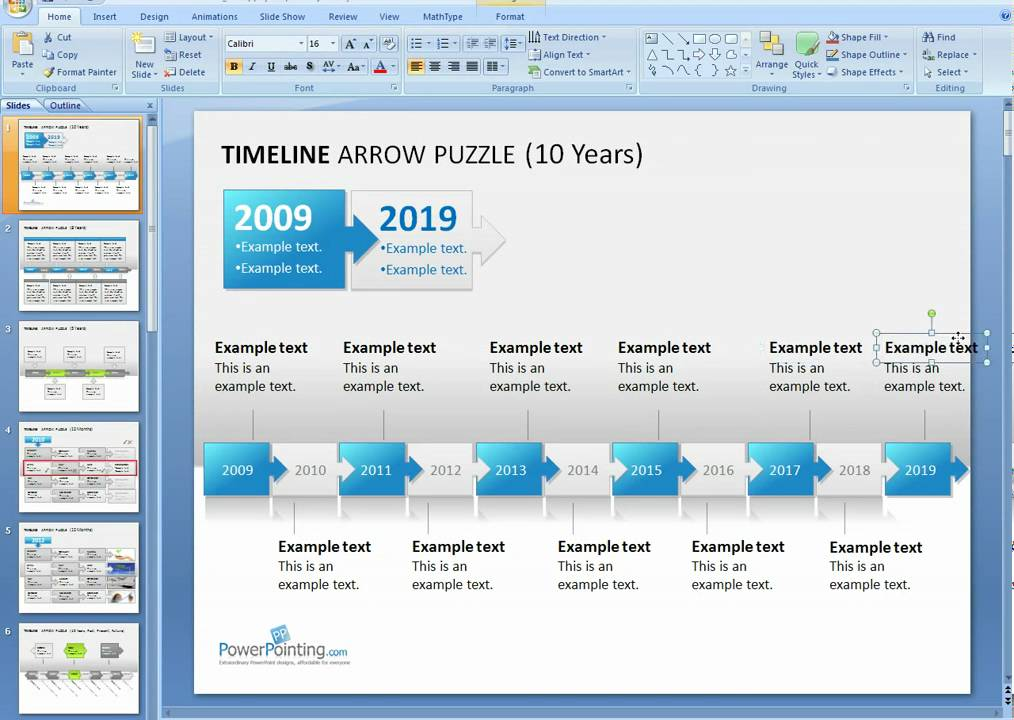 How to format a PowerPoint Timeline - YouTube