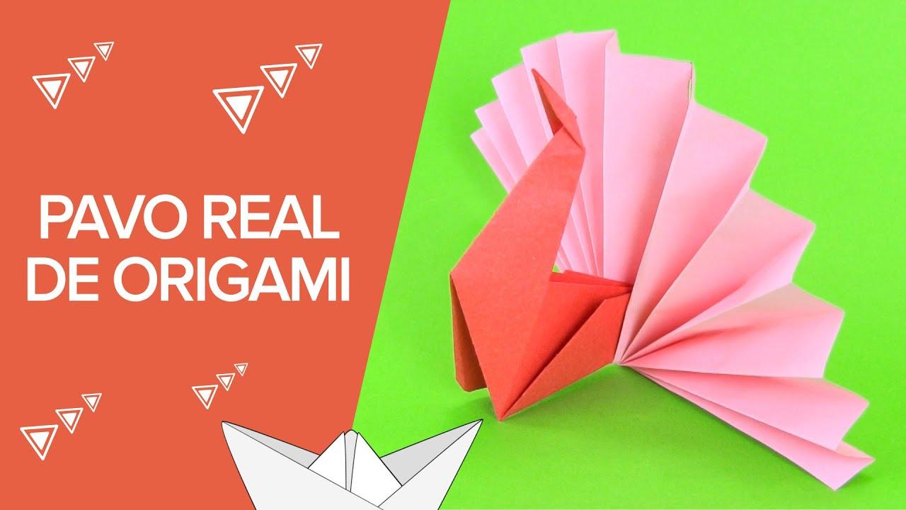 Pavo real de papel origami para ni os youtube - Papel de vinilo para cocinas ...