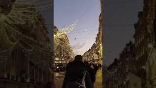 크리스마스 시기 런던 옥스포드스트릿 야경