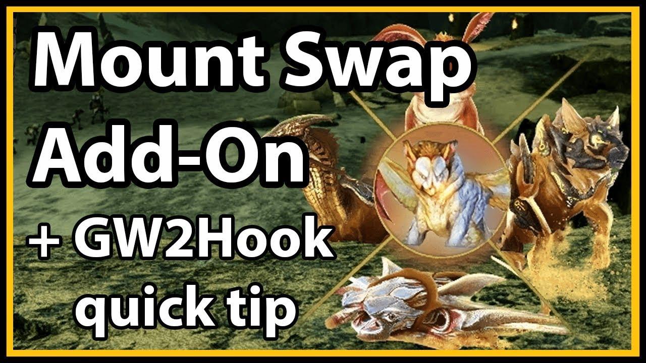 Guild Wars 2 - Mount Swap Add-On (GW2Hook quick tip)