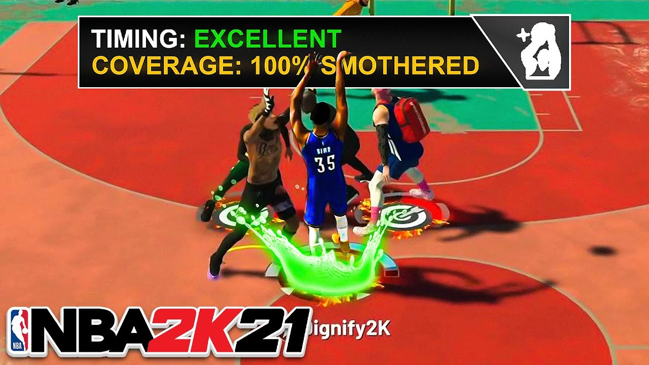 KEVIN DURANT 100% SMOTHERED GREENS with TWO HANDED JUMPSHOT on NBA 2K21