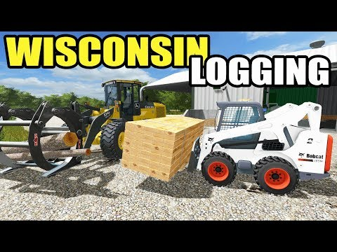 FARMING SIMULATOR 2017 | THE MILL IS WORKING + STARTING TO CHIP TREES | WISCONSIN LOGGING EP #2