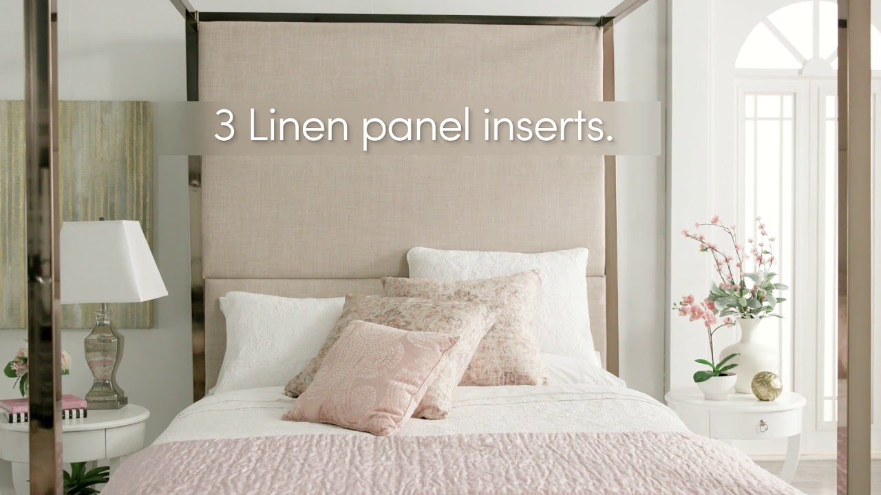 Metal Frame Canopy Bed With Panel Inserts by iNSPIRE Q Bold & Metal Frame Canopy Bed With Panel Inserts by iNSPIRE Q Bold - YouTube