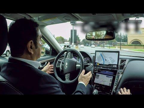 Carlos Ghosn tests an autonomous Infiniti Q50 in California