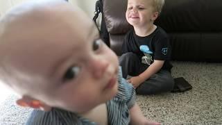 BABY VS ROBOT!