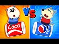 Wolf Family⭐️ Which color will win?: Red vs Blue 🟥/🟦 - Funny Stories for Kids | Kids Cartoon