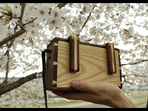 DIY 木のショルダーバッグ