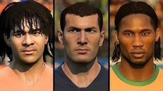 FIFA 20 ALL 89 ICON FACES (Zidane, Kaka, Drogba, Ronaldo etc)