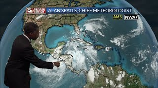Tropical Storm Nate in the Caribbean on 10/5/17