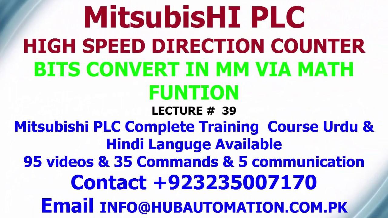 How To Convert Encoder Bits In Mm Via Mitsubishi Plc Math Function Urdu Hindi Lecture 39