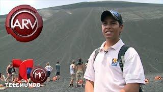 Carmen Dominicci se desliza por el volcán Cerro Negro | Al Rojo Vivo | Telemundo