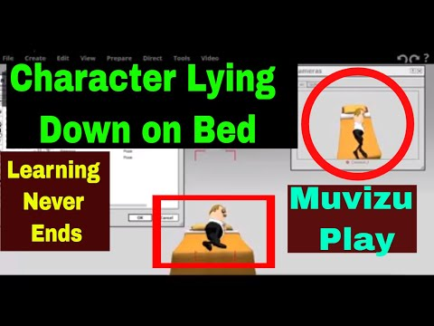 Muvizu Tutorial 14: Character Lying Down On The Bed in Hindi | Learning Never Ends