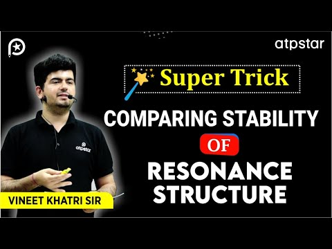 Comparing Stability of Resonance structures - IITJEE Concepts in Hindi