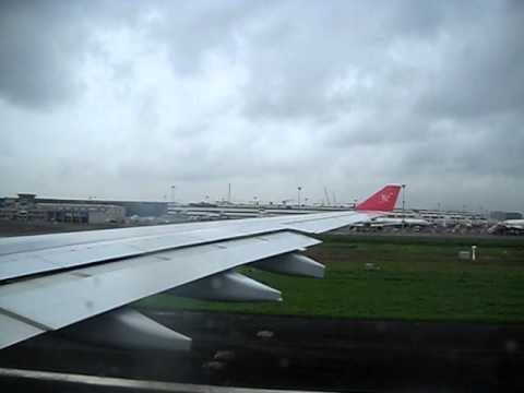 Kingfisher Airlines Airbus A330-200 Departing Mumbai for London LHR.AVI