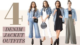 4 ESSENTIAL STYLE TO WEAR A DENIM JACKET / LOOK BOOK / HOW I STYLE!