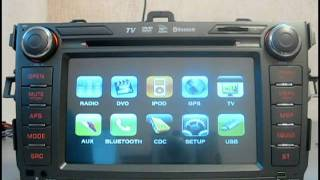 Видеообзор штатного головного устройства Velas  Toyota Corolla