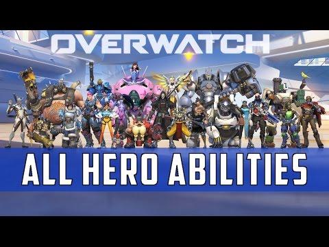 Overwatch: Hero Abilities Compilation  | 21 Heroes [Launch] HD