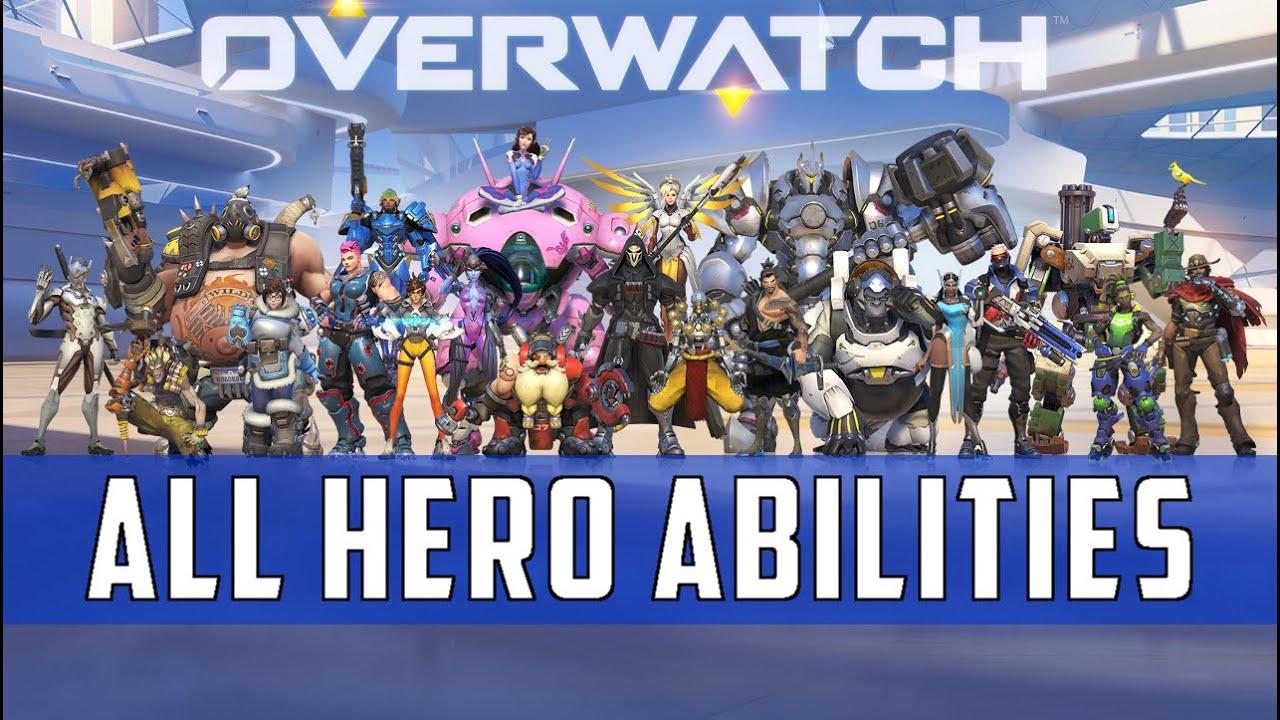 Overwatch Hero Abilities Compilation 21 Heroes Launch