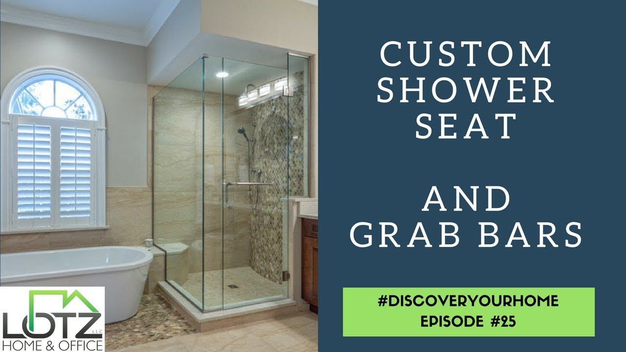 Bathroom Remodeling Naperville custom shower seat and grab bars | safety in bathroom remodeling
