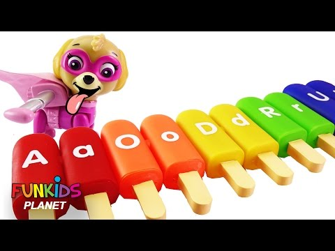 Thumbnail: Best Learning Colors for Children: Paw Patrol Skye & Chase Popsicle Ice Cream Bunny Learn Alphabet