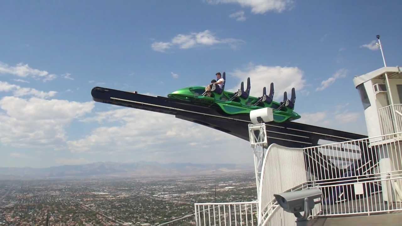 Las Vegas Stratosphere X Scream Ride - YouTube