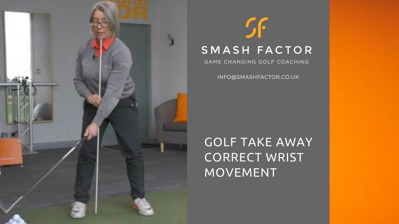 Correct wrist movement during golf swing take away