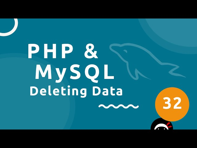 PHP Tutorial (& MySQL) #32 - Deleting a Record