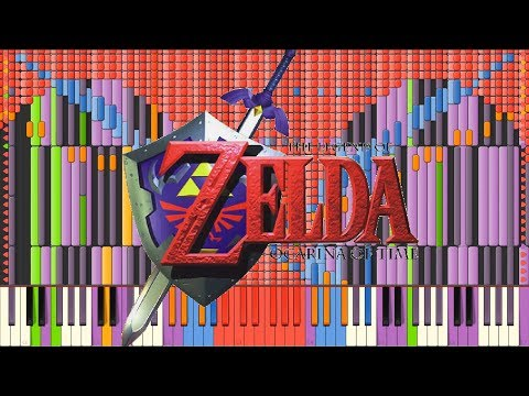 [Black MIDI] Synthesia – Song of Storms (Legend of Zelda) 42,000 ~ Infernis