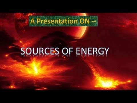 PPT On Sources Of Energy