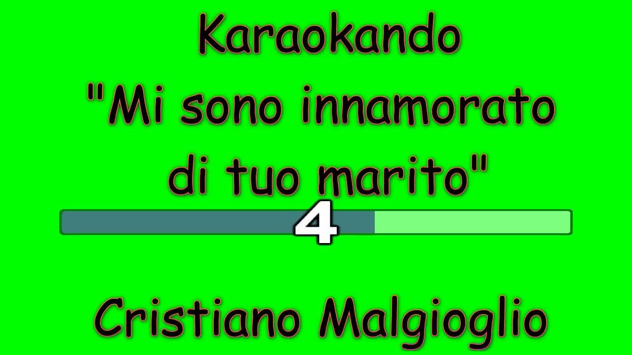 Karaoke Italiano - Mi sono innamorato di tuo marito - Cristiano ...