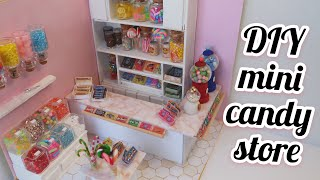 DIY miniature candy store | Speed build from scratch