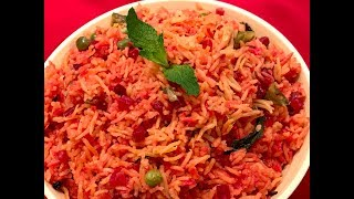 Best Recipe Videos of Beetroot Rice|Pulao in Pressure Cooker