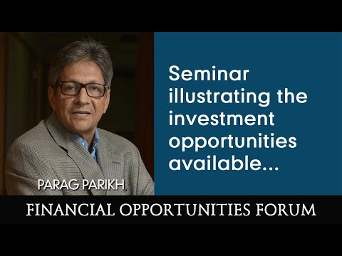 Seminar illustrating the investment opportunities available...