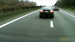 Belgian traffic aggression - BMW M3 E92