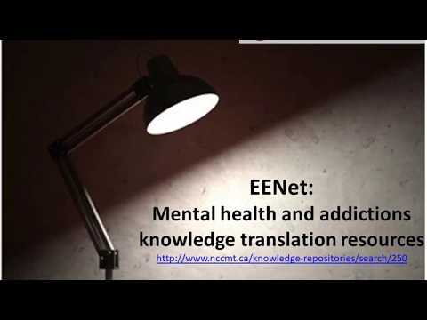 Spotlight on Methods and Tools: EENet Mental Health and Addictions Knowledge Translation Resources