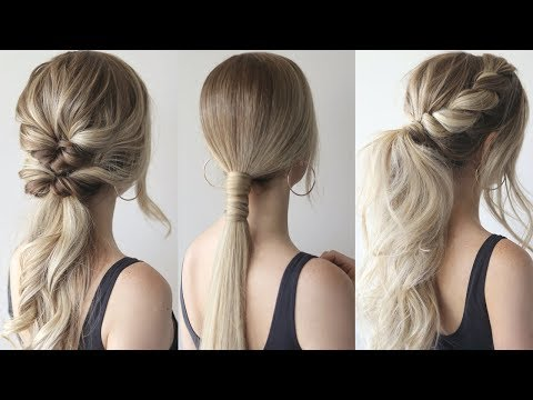 HOW TO: EASY PONYTAILS | Perfect Prom Hairstyles 2019